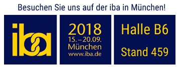 Besuchen Sie THUNDERBIRD auf der iba in München, Halle B6, Stand 459
